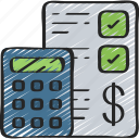 account, advice, checklist, financial, form icon