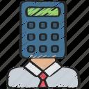 accountant, advice, avatar, calculator, financial