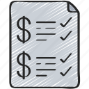 advice, checklist, finance, financial, money icon