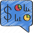 advice, financial, message, text icon