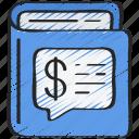 advice, book, financial, learn, read icon
