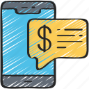 advice, financial, iphone, mobile, money icon