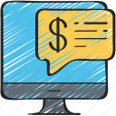 advice, computer, financial, online icon
