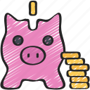 bank, advice, financial, piggy, savings