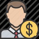 advice, advisor, avatar, financial, male