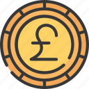 advice, british, coin, currency, financial, pound icon