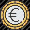 advice, coin, currency, euro, european, financial icon