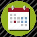 arrangement, calendar, time icon