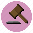 done, hammer, law icon