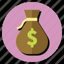 money, moneybag, purchase, purse, wallet icon