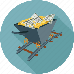 money, trolley icon