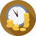 coin, time, timer icon