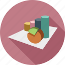 analytics, graph, pie chart, stats icon
