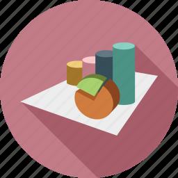 analytics, graph, pie chart, stats icon