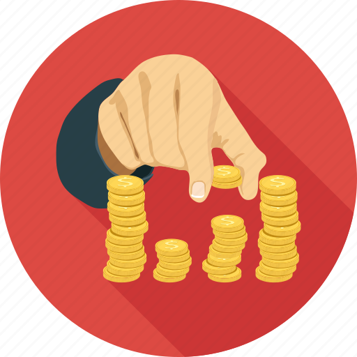 Coin in hands, coins, play with coins icon - Download on Iconfinder