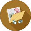 dollars, graphs icon