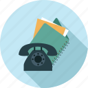 file, files and folder, old phone, phone, telephone icon