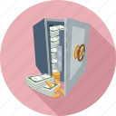 bank, money, money in the vallet, secure money, secured money icon