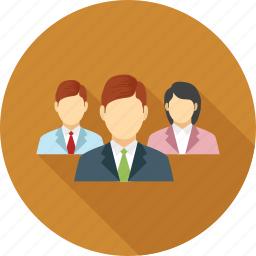 business people, female, male, team, users icon