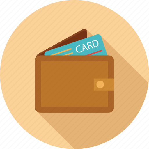 Card, credit card in wallet, wallet, wallet and card icon - Download on Iconfinder