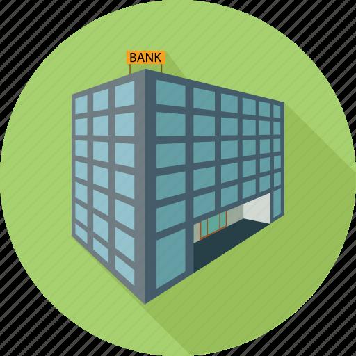 bank building, building, financial building icon