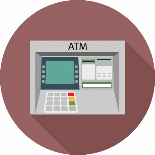 atm, atm hardware, atm machine, device, hardware icon