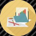 analytics, folder, graph
