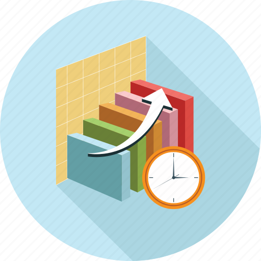 Bar graph, graph, time, timer icon - Download on Iconfinder