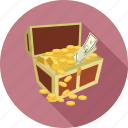 coin, coins, money, money in the box icon