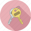 key, keys, unlock icon
