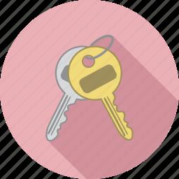 key, keys, unlock icon