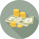 cash, coins, dollars, money icon