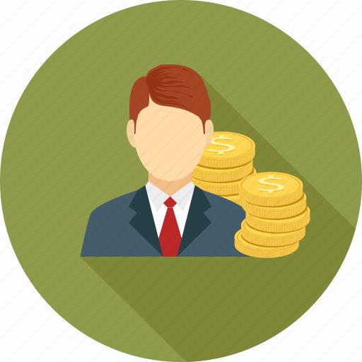 coins, male, money icon