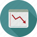 chart, down graph, graph, statistics icon
