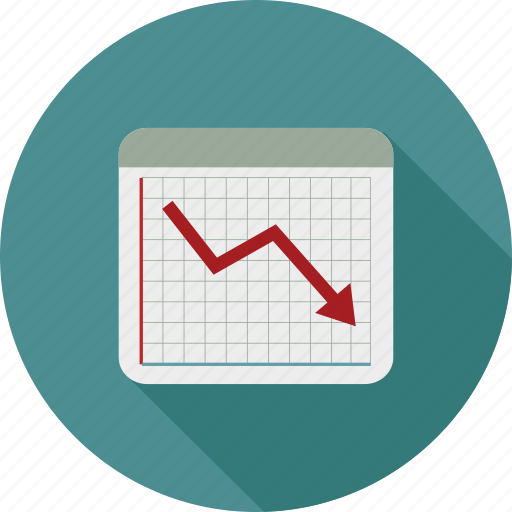 chart, down graph, graph, statistics icon