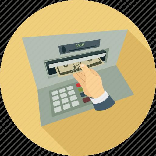 atm, atm machine, cash, cash from atm icon