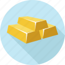 gold, gold bar, gold bars, gold biscuits icon