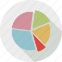 graph, pie chart icon