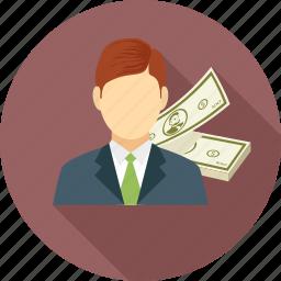 male, man, money icon