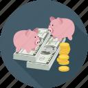 coins, dollars