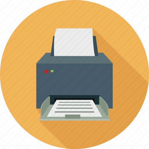 computer printer, device, hardware, print, printer icon