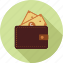 money, money in wallet, wallet icon