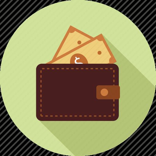 money, money in wallet, wallet icon