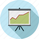 chart, graph, graph chart, presentation, projector icon