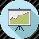 chart, graph, graph chart, presentation, projector