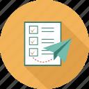 checks, processes, send list, do, list, to
