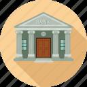 bank, banking, building