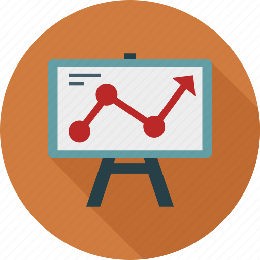 Graph chart, graph on board, presentation, diagram icon - Download on Iconfinder