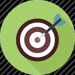 focused, goal, target, targetting icon