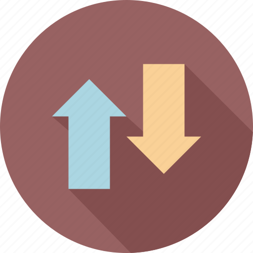 Down, transfers, up, up and down, direction, trend icon - Download on Iconfinder